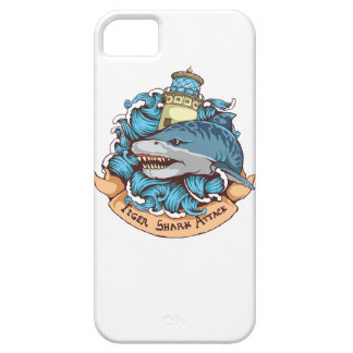 Tiger Shark Attack Lighthouse Tattoo Style Art iPhone SE/5/5s Case