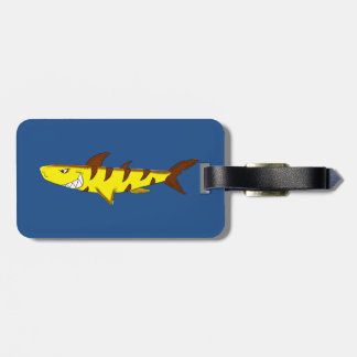 Tiger shark bag tag