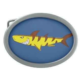 Tiger shark belt buckle