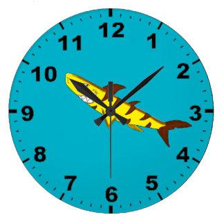 Tiger shark design wrist watches large clock