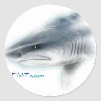 Tiger Shark Head Classic Round Sticker