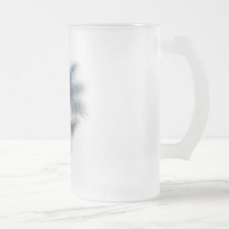 Tiger Shark Head Frosted Glass Beer Mug