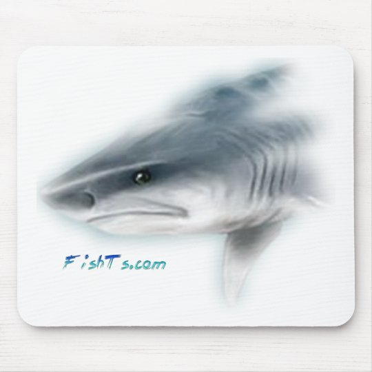 Tiger Shark Head Mouse Pad