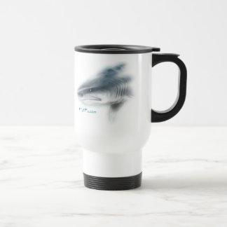 Tiger Shark Head Travel Mug