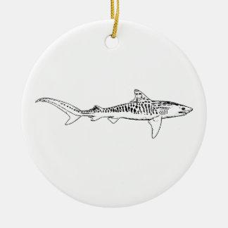 Tiger Shark (illustration) Ceramic Ornament