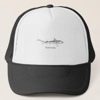 Tiger Shark Illustration Trucker Hat