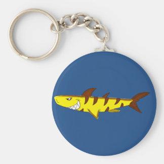 Tiger Shark matching jewelry set Basic Round Button Keychain