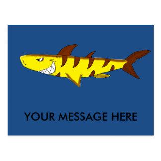 Tiger shark matching stationery postcard