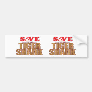 Tiger Shark Save Bumper Sticker