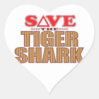 Tiger Shark Save Heart Sticker