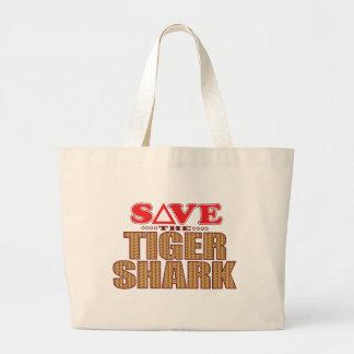 Tiger Shark Save Large Tote Bag