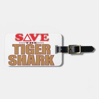Tiger Shark Save Luggage Tag