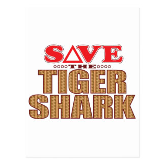 Tiger Shark Save Postcard