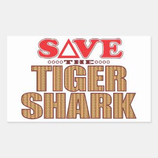 Tiger Shark Save Rectangular Sticker