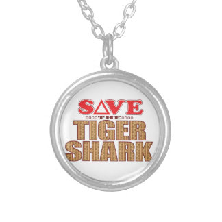 Tiger Shark Save Silver Plated Necklace