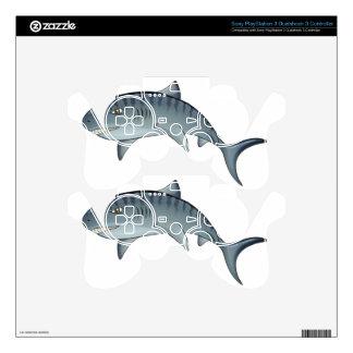 Tiger shark PS3 controller skins