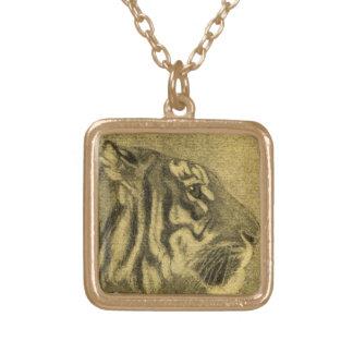 Tiger Shere Khan Jungle Book Necklace Vintage Art