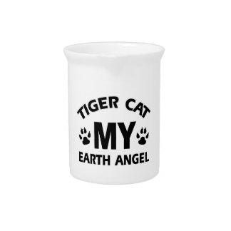Tiger  siamese cat design pitcher