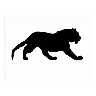 Tiger Silhouette Postcard