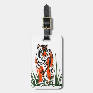Tiger Silk Screen Luggage Tag