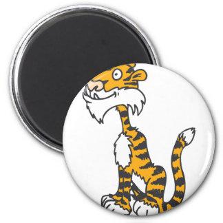 Tiger sitting on back legs magnet