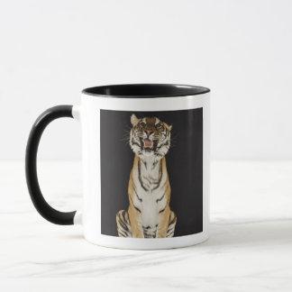 Tiger sitting on platform mug