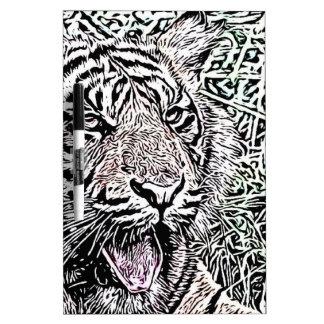 tiger sketch dry erase board