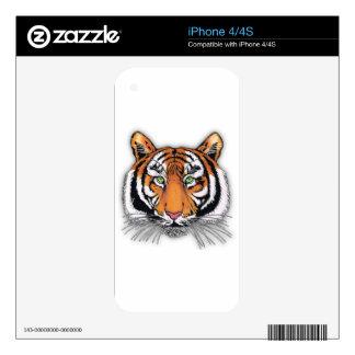 Tiger iPhone 4S Decals