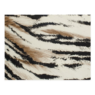 Tiger skin artificial pattern postcard