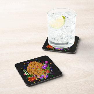 Tiger Skin Easter Egg Beverage Coaster