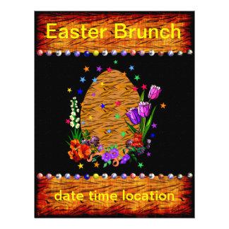 Tiger Skin Easter Egg Custom Flyer