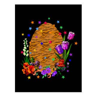Tiger Skin Easter Egg Postcard