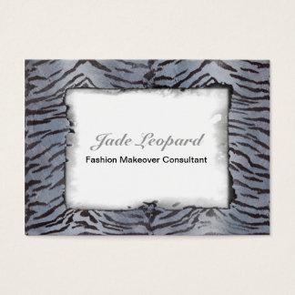 Tiger Skin in Blue Slate Business Card