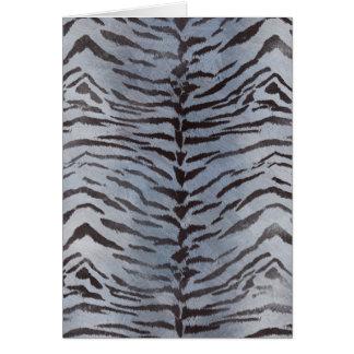Tiger Skin in Blue Slate Card