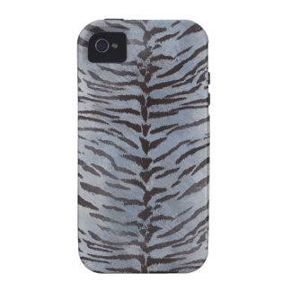 Tiger Skin in Blue Slate iPhone 4 Covers
