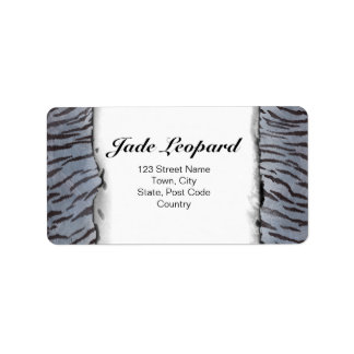 Tiger Skin in Blue Slate Label