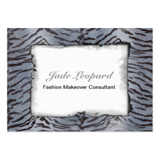 Tiger Skin in Blue Slate Large Business Cards (Pack Of 100)