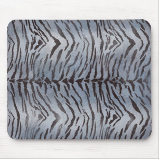 Tiger Skin in Blue Slate Mouse Pad