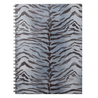 Tiger Skin in Blue Slate Notebook