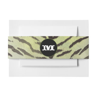Tiger Skin in Chartreuse Invitation Belly Band