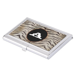 Tiger Skin in Ivory Case For Business Cards