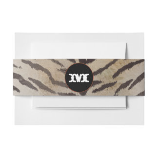 Tiger Skin in Ivory Invitation Belly Band