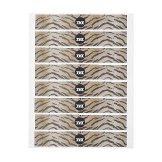 Tiger Skin in Ivory Wrap Around Address Label