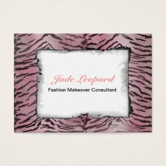 Tiger Skin in Pink Rose Business Card