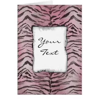 Tiger Skin in Pink Rose Card