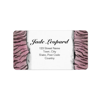 Tiger Skin in Pink Rose Personalized Address Labels
