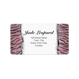 Tiger Skin in Pink Rose Label