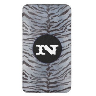 Tiger skin in Silver Blue Galaxy S5 Pouch