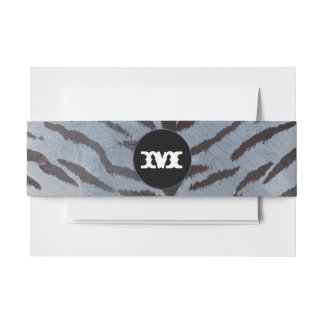 Tiger skin in Silver Blue Invitation Belly Band