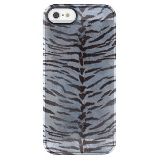 Tiger Skin in Silver blue Uncommon Clearly™ Deflector iPhone 5 Case